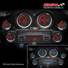 Koso BA050907,Digital Gauge Cluster, Black Bezel for Harley Touring 2004-2013