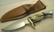 1960's~WESTMARK~U.S.A.~703~UNUSED~PREMIUM QUALITY WESTERN HUNTING KNIFE w/SHEATH