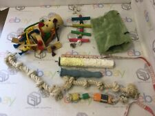 Joblot  Parrot Toys Bed Rope Perches