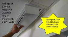 """Package of 2 White Linear Air Diverter 48""""long x 6.75""""-For 4 Slot Linear Vent"""