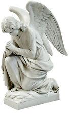 "Kneeling Angel Praying sculpture statue 28"" for home or garden"