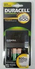DURACELL ion SPEED 500 CHARGER WITH  TWO AA NiMH BATTERIES 96278905 SHIPS FREE!!