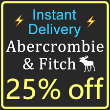 **25% OFF** ABERCROMBIE Coupon A&F Promo Code === Instant Delivery ===
