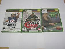 Arena Football, NHL 2K6, World Championship Poker Lederer Xbox BRAND NEW/SEALED