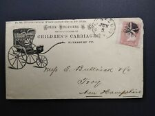 Vermont: Waterbury 1860s #65 Colby Children Carriages Advertising Cover