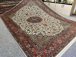 Feiner Perserteppich Orientteppich Täbriz Korkwolle + Seide 362 x 254 Neuwertig