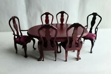 GORGEOUS VINTAGE REMINESCENCE DOLLHOUSE MINIATURE 7/PC DINING ROOM SET !
