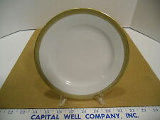 Ba Aria German Porcelain Off White and Gold Trimmed Salad or Dessert Plate - EUC