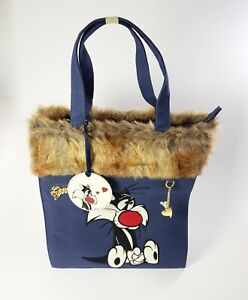 Bag Vertical Blue Sylvester Jr. Embroidered C / Fur Synthetic By Love Girl