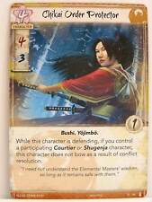 Legend of the five rings LCG - 1x #048 Chikai order Protector-the fires within