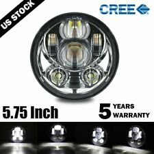 """Brightest 5-3/4"""" 5.75"""" inch LED Projector Headlight DRL for Motorcycle Motor"""