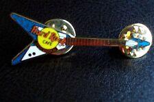 HRC Hard Rock Cafe Stockholm Blue Mini Gibson Flying V Guitar LE200
