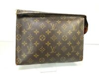 LOUIS VUITTON Monogram Poche Toilette 26 Pouch M47542 LV France J201590529