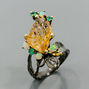 Jewelry Set Design Citrine Ring Silver 925 Sterling  Size 8.5 /R172492
