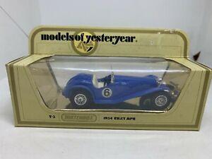Matchbox Models of Yesteryear Y-3 1934 Riley MPH Blue #6 NEW