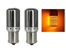 Ampoules BAU15S PY21W LED Canbus Orange Chromé 145 SMD Clignotants pour Voitures
