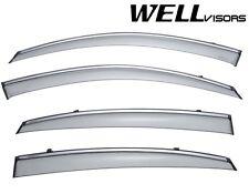 For 08-15 Infiniti EX35 EX37 QX50 WellVisors Side Window Visors W/ Chrome Trim