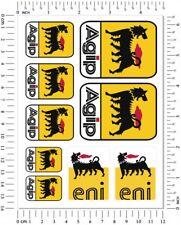 AGIP Eni Oil Lubricants Laminated Stickers Aprilia Graphics Ducati Decals Logo