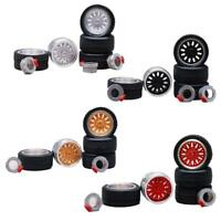 1:64 Hot Wheels 4 Spoke Chrome Redline Rubber Tire
