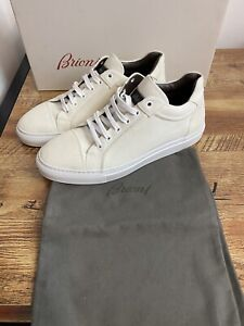 Brioni Sneakers  Men's Leather Henry White STUNNING  BNWB size 8UK 9US RRP £740