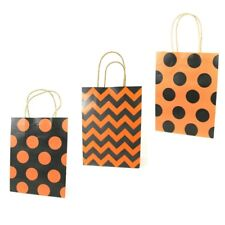 LDW 9 Orange Black Assorted Kraft Handle Paper Party Favor Wedding Gift Bags