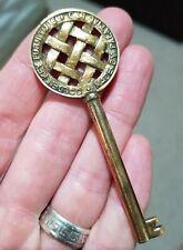 """RARE Ornate Old Antique Vintage Keys """"Golden Key Furniture made by Palatial Ltd"""""""