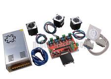 3 Axis CNC Kit Nema23 Stepper Motor USB Driver Mach3 Motion Control Power Supply