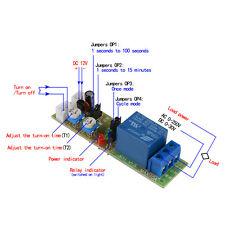 DC 12V Zeitrelais Timing Timer Delay Relay ON OFF Module 15min TE678