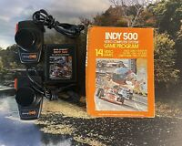 Atari 2600 Indy 500 Video Game & Controller/Paddle Set With Box 1978
