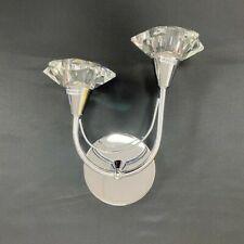 NICE Modern Wall Light Crystal Droplets Polished Chrome Frame Crystal Wall light