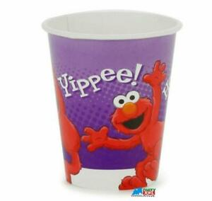 Hooray for Elmo Paper Cups Birthday Party Supplies 8 Per Package 9 oz New