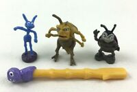 "A Bugs Life Miniature 2"" Francis Flik Grasshopper Toy Figures 4pc Lot Disney"