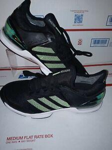 Adidas Adizero Ubersonic 2 Black/Glow/Green Tennis Shoes EG2596 Men's Size 7