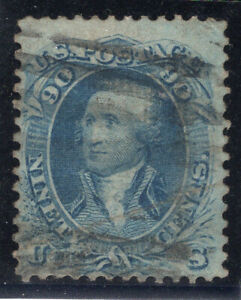 US Stamps Scott #72 Used. Repaired?
