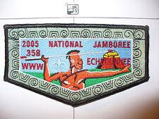 OA Echeconnee Lodge 358 S-24,2005 BSA Jamboree,Indian W/GRY Atlatl Flap,Macon,GA