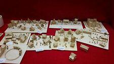 9 x Bastelset KIT houses 1 train landscape figuras scale 1/1000  for tiny train