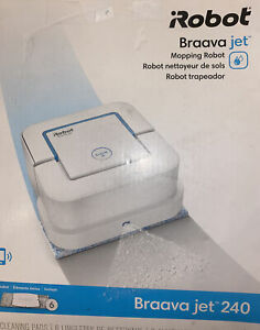 iRobot Braava Jet 240 White Rechargeable Automatic Mopping Robot USED ONCE