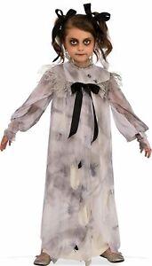 Sweet Screams Dress Creepy Doll Scary Little Girls Child Halloween Costume S-L