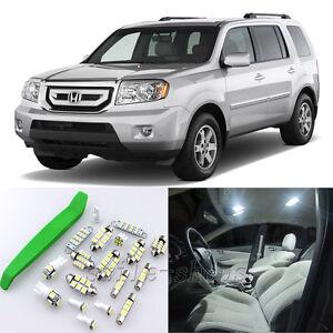 Super White 12pcs Interior LED Light Kit for 2009-2011 Honda Pilot + Free Tool