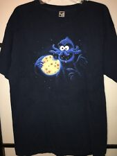 "TeeFury Cookie Monster Men's Graphic T-SHIRT. Size Large. 30"" Long Blue"