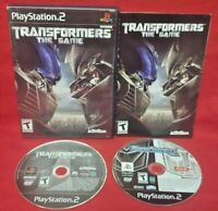 Transformers 1 + Transformers The Game - Game Lot PS2 Playstation 2 Tested Works