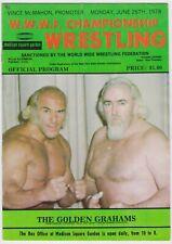 1978 WWWF CHAMPIONSHIP WRESTLING PROGRAM AT MSG BILLY GRAHAM & ANDRE THE GIANT