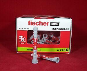 Fischer Duo Power 6x50 Mehrzweckdübel Dübel 10 20 50 Stück Art Nr 538240
