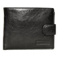 Black Large Leather Wallet / Notecase With Fastener Branded Range By Golunski