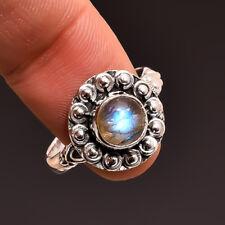 Labradorite Gemstone Jewelry 925 Sterling Silver Handmade Ring Size us 7.75