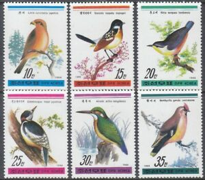 Korea (N) - 1988 - MNH - (2932-2937) Birds