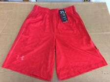 "UNDER ARMOUR 1253528 RAID PRINTED BOLT ORANGE/RED 10"" SHORTS MENS LARGE MSRP $35"