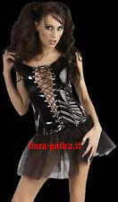 vestito corto pvc nero dark gothic goth  fetish sexy