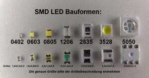 10 Stück SMD LED 0603 kaltweiß