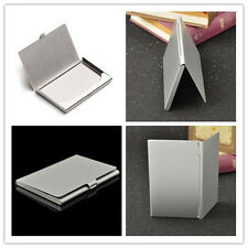 Men's Business Name Credit ID Card Holder Stainless Steel Pocket Box Case Gifts